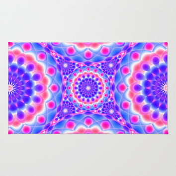 Mandala Psychedelic Visions G220 Area & Throw Rug by MedusArt | Society6