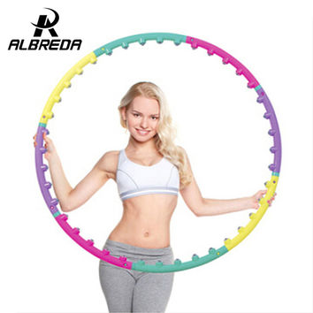 New arrival magnet fitness hula hoop massage hoops hula-hoop for children kid bodybuilding for women hoops  Free shipping RO280