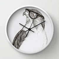 Hawk with Poor Eyesight Wall Clock by Phil Jones