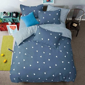 Summer Cotton New Bedding Sets Shadow Tree Singing Pillowcase Bed Sheet Duvet Cover 3/4pcs Full Queen Soft Comfortable