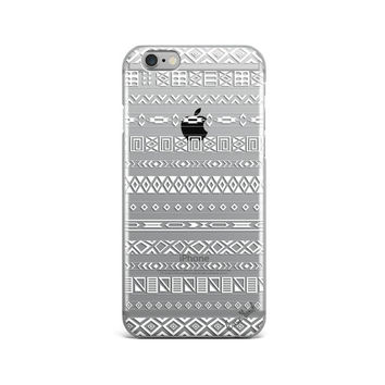 TPU Clear Case for iPhone & Galaxy Aztec Pattern
