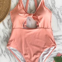 Cupshe Fairy Tales Solid One-piece Swimsuit