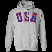 Retro USA Pullover Hoodie