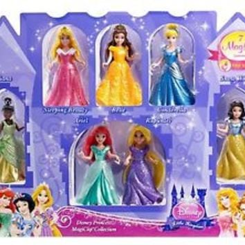 Disney Princess Little Kingdom Magiclip 7-Doll Giftset Toy Kids Child Girls