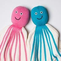 Organic Octopus Lovey or Baby Security Blanket