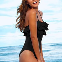 Ruffle one piece from VENUS Swimsuit Selection