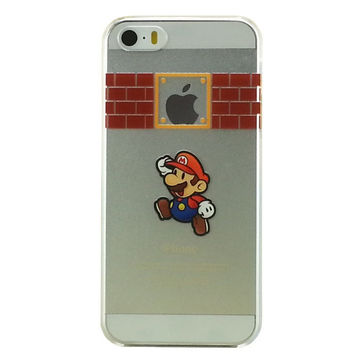 Games Super Marie classic games cartoon  apple Halloween Clear Transparent Case For Apple iPhone 6 6 PLUS