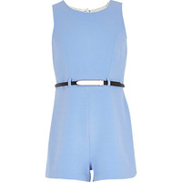 River Island Girls pale blue romper