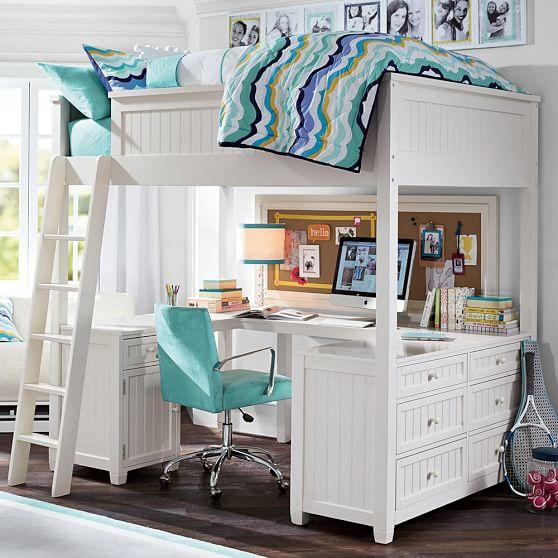 Beadboard Loft Bed From Pbteen