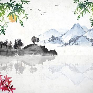 Brewster Wallpaper WALS0232 Japanese Lake Wall Mural