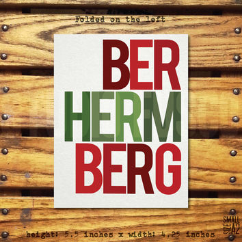 BER HERM BERG - Holiday Greeting Card - Christmas Card - Funny Card - Ermahgerd Card - Christmas Carol Card - Custom Card