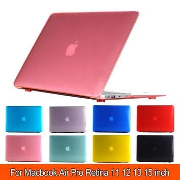 "Transparent Matte Case Hard Cover Sleeve For mac macbook air pro retina display 11"" 12"" 13"" 15"" inch + Keyboard cover"