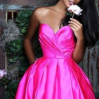 Short A-Line Sherri Hill Strapless Prom Dress SH-50147