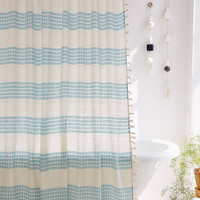 Isra Floating Weft Shower Curtain   Urban Outfitters