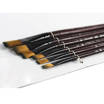 6Pcs/Set Nylon Acrylic Oil Paint Brushes For Art Artist Supplies Watercolor HU