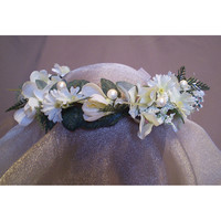 Faerie floral head wreath bridal flower crown renaissance costume womens accessory Imbolc