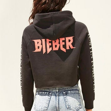 Purpose Tour Cropped Hoodie