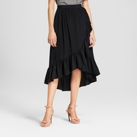 Women's Ruffle Wrap Midi Skirt - Who What Wear™