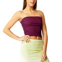 Voodoo Purple Cotton Tube Top