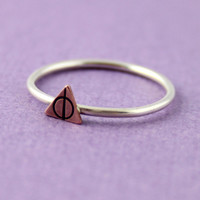 Harry Potter Stacking Ring - Deathly Hallows Ring