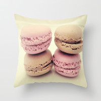 macaroons Throw Pillow by Alexia Miles Photography