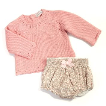 Mayoral Infant Girl Bloomer & Sweater Set