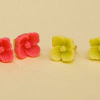 Flower Earrings 2 Pairs