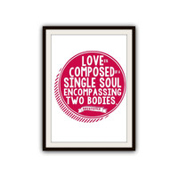 Soul Mate Love Quotes Romantic Typography Poster