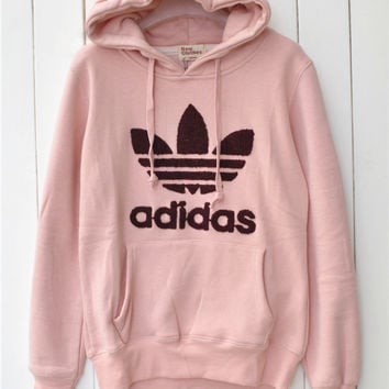 """Adidas"" Casual Cute Embroidery Thickened Cotton Sweater Sweatshirt Hoodie"