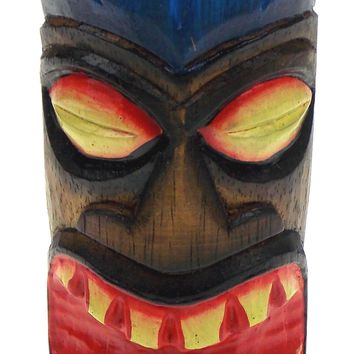Beachcombers Wood Tiki Tea Light Totem Choice Color Green Blue Yellow