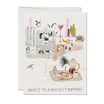 RED CAP CARDS BIRTHDAY PERFECTION CARD