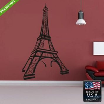 Wall Decal Decal Sticker Kids Eiffel Paris Tower Decal Bedroom z112