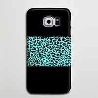 Turquoise Leopard iPhone XS Max Case Galaxy S8 Plus Case Galaxy S7 Case Samsung Galaxy Note 5 Case s6-09
