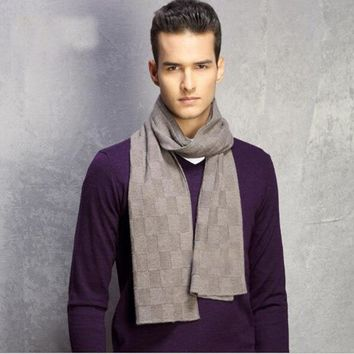New Autumn Winter Men Scarf Hot Fashion Thicked Man's Wool Scarf Men Long Scarves Wraps