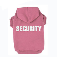 BINGPET BA1002-1 SECURITY Patterns Printed Puppy Pet Hoodie Dog Clothes XXL
