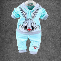 Baby Clothing Set Cartoon Kids Apparel Boys Girls Children Hoodies And Pant Children's Clothing Set