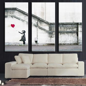 3 Pcs/Set Modern Wall Painting Series There is always hope Canvas Art