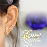 True love Ear Cuff (Single, No Piercing) | LilyFair Jewelry
