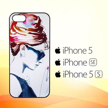 Audrey Hepburn Art Artist E1080  iPhone 5|5S|SE Case