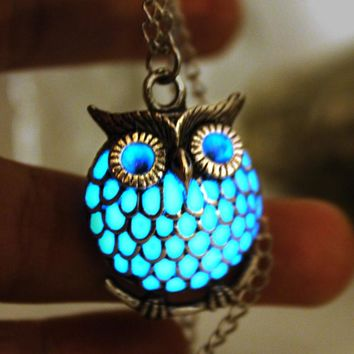 Luminous Glow in The Dark Owl Necklace