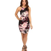 Black Peonies Dress
