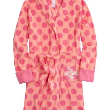 POLKA DOT FLEECE ROBE | GIRLS ROBES SLEEPWEAR | SHOP JUSTICE