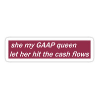 'GAAP Queen' Sticker by Absurd Hero