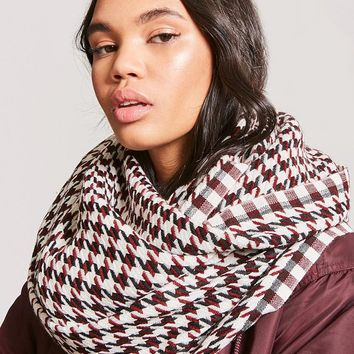 Two-Tone Houndstooth Scarf