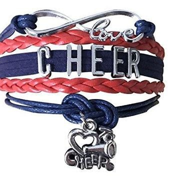 Cheer Infinity Bracelet - Red & Blue