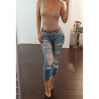 BELLA Boyfriend Ripped Jeans - Jaide Clothing