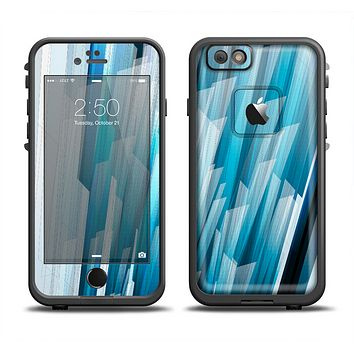 The Layered Blue HD Strips Apple iPhone 6 LifeProof Fre Case Skin Set