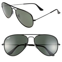 Ray-Ban 58mm Aviator Sunglasses