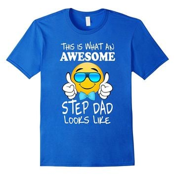 Mens Step dad gifts from stepdaughter son for fathers day tee
