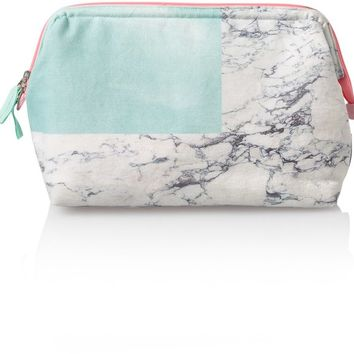 Marble & Duck Egg Wash Bag | Oliver Bonas